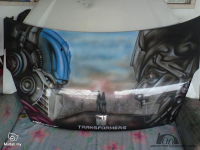 Transformers Airbrush on Car
