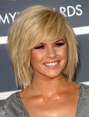 Elisha Cuthbert short hairstyles Elisha Cuthbert is wearing a short