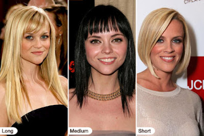 sample face shape hairstyles