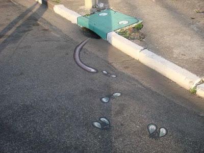 storm drain graffiti character