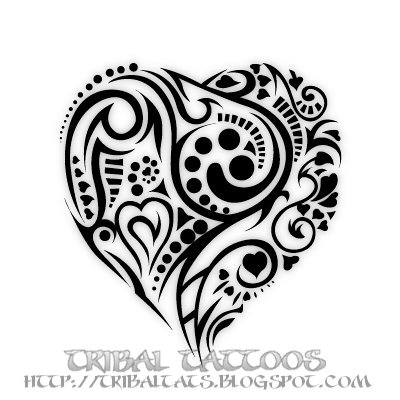 7 unique designs of tribal heart tattoos gallery tattoo apik bagus. Black Bedroom Furniture Sets. Home Design Ideas