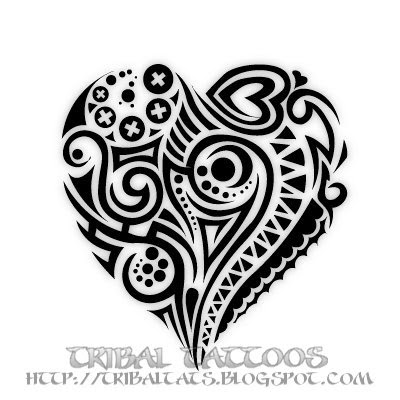 Cute Little Heart Tattoo 7 Unique Designs of Tribal Heart Tattoos Gallery