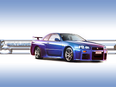 Nissan Skyline Car Gallery Blue Color