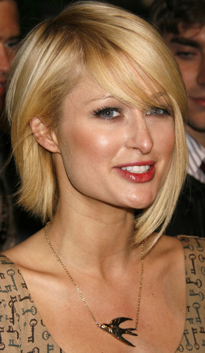 Medium Length Paris Hilton Celebrity Hairstyles