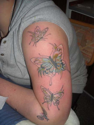 Arm of Butterflies Cool Tattoo
