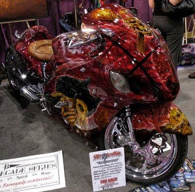 reaper motorbike airbrush