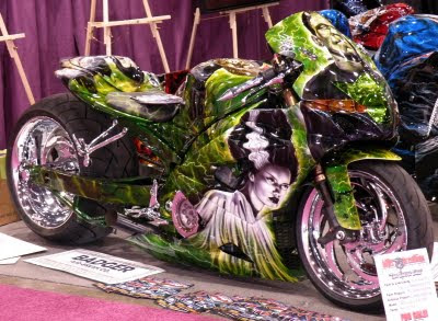 reaper airbrushing art motorcycle