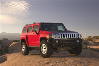 hummer jeep car red color