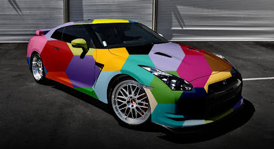 Airbrush Cool Colors on Fast Car