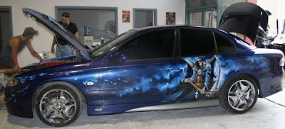 Honda Civic Custom Airbrush Car