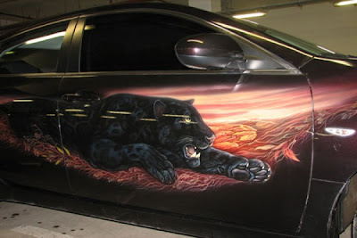 Puma Designs Airbrush on Mazda RX6 Car 2