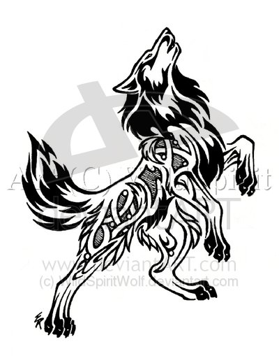 The butterfly symbolizes a free spirit as well. Tribal Wolf Bust Tattoo by