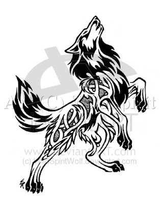 Tattoo Wolf Tribal Designs 6