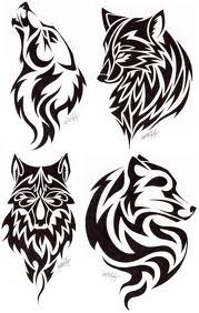 Tattoo Wolf Tribal Designs 5