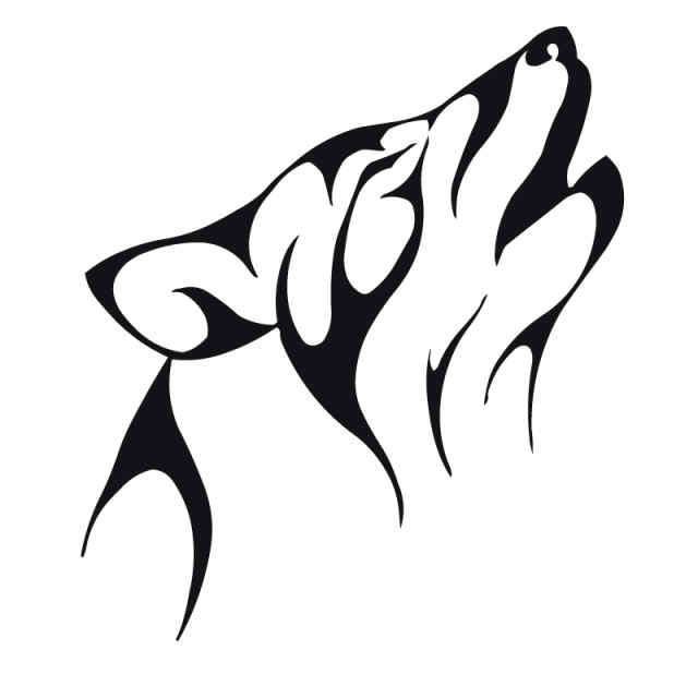 Angels Wing Tattoos 7 Excellent Tattoo Wolf Tribal Designs