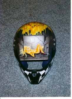 2012 Custom Airbrush Helmet 3