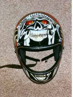 2012 Custom Airbrush Helmet 2