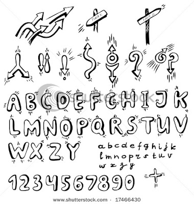 Illustration Graffiti Alphabet Arrow
