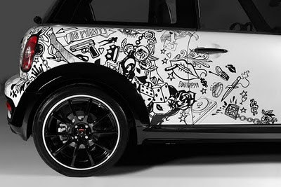 Mini Cooper Car Tribal Airbrush 9
