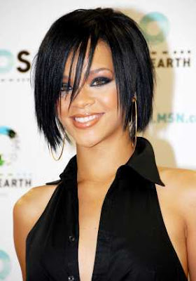 2009 Hairstyle Trend: Sporty Bob Hairstyle From Rihanna