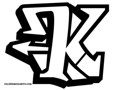 Art Graffiti Gallery: Graffiti Alphabet Letter K Design