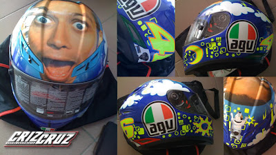 AGV GP-TECH Rossi Face Airbrush Designs