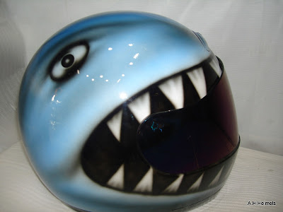 Custum AGV Helmet Airbrush Shark Designs 2
