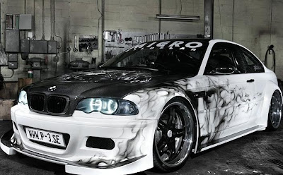 BMW Car With Custom Airbrush Art 2