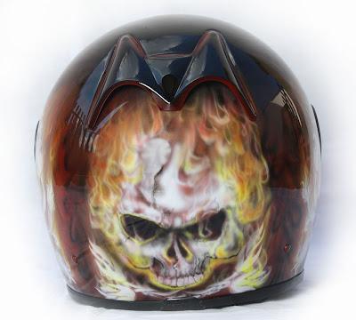 Marushin Full Face Helmet Airbrush 2