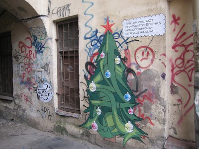 2011 Christmas Graffiti Art Gallery Designs 3