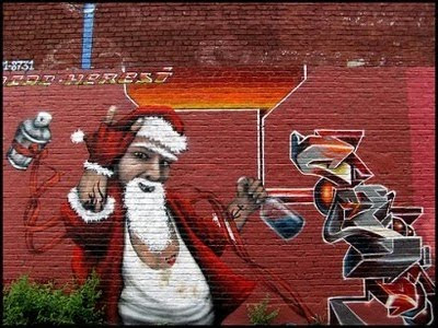 Santa Claus Graffiti Mural Designs 2