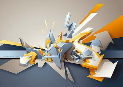 Graffiti 3D Arrow Graphic Designs 3