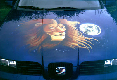 AWESOME CAR PAINTING AIRBRUSH ON HOOD AND BODY 2