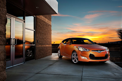 2012 Hyundai Veloster Orange Color Photo