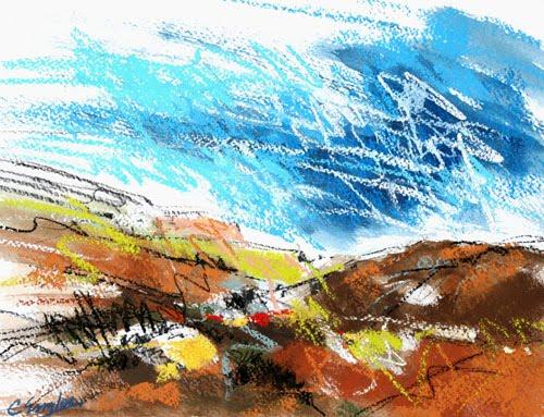 california artwork temecula valley foothills three mixed