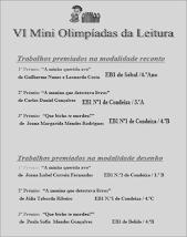 Mini-Olimpíadas da Leitura 2010