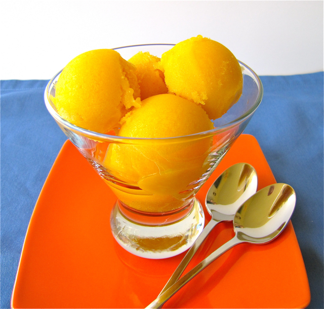 Mango-Lemongrass Ice Cream And Blood Orange Sorbet Recipe ...