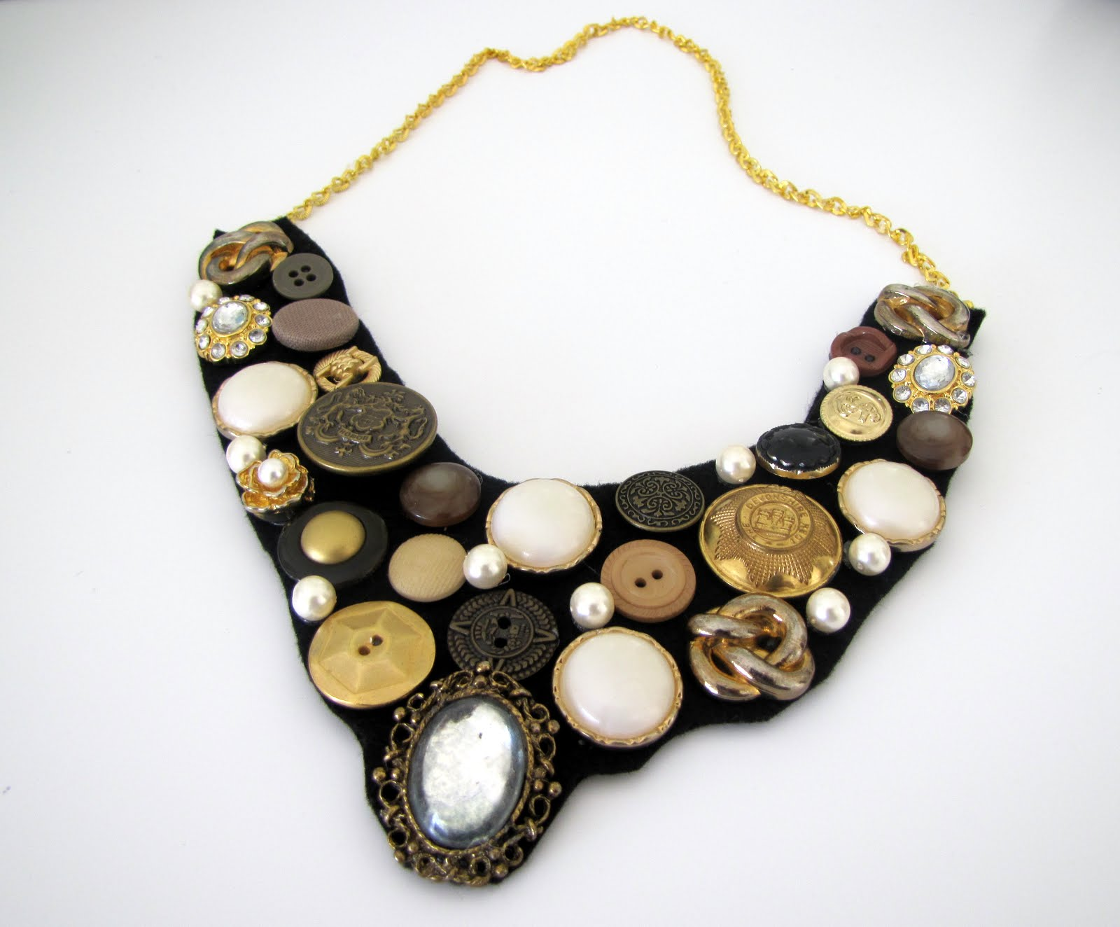 How To Make a Button Bib Necklace {step by step Tutorial} - craft ...