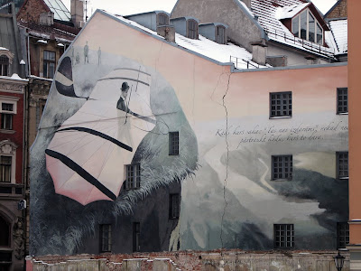 Latvia graffiti, street art