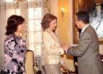 Presidente Fernández recibió la Reina Sofía de España en el Palacio Nacional