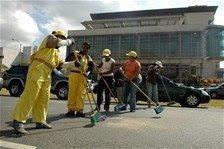 Productores San Juan lanzan decenas quintales de habichuelas frente al Congreso