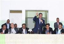 El presidente Leonel Fernández va a Moca por obras