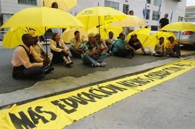 """Convocan a """"lunes amarillo"""" por 4% a educación"""