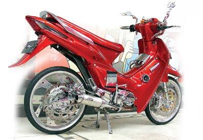modifikasi motor honda supra fit 2005 terbaru