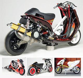 motor sport edition: MODIFIKASI Honda Vario Matic Racing Style