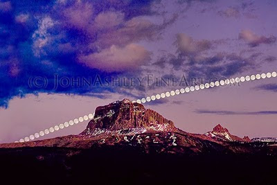 Chief Mountain Moonrise (c) John Ashley