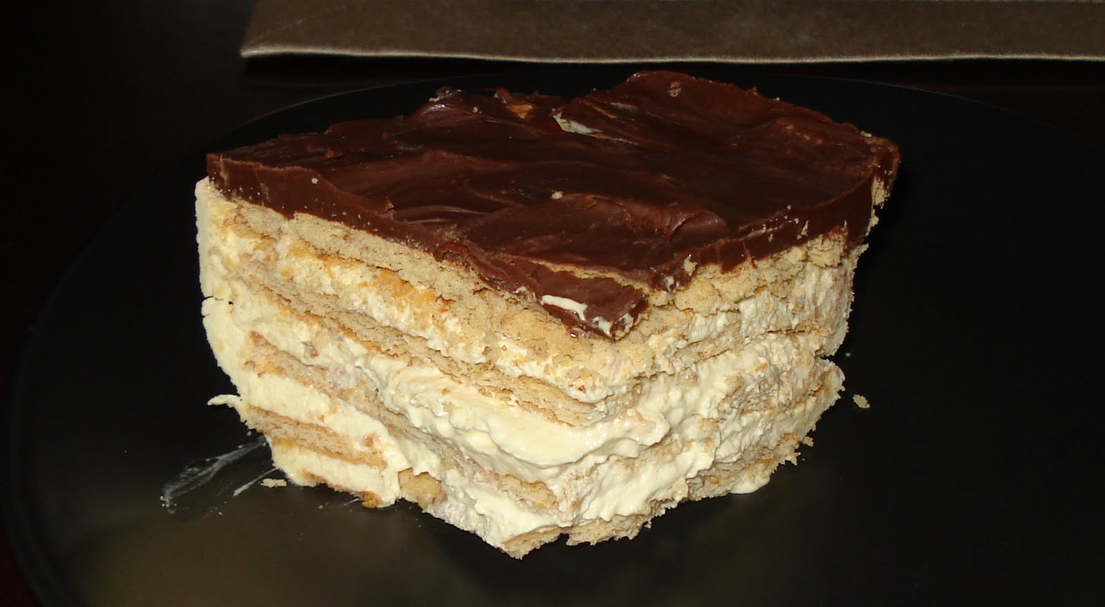 From my Kitchen: No Bake Chocolate Vanilla Eclair Cake