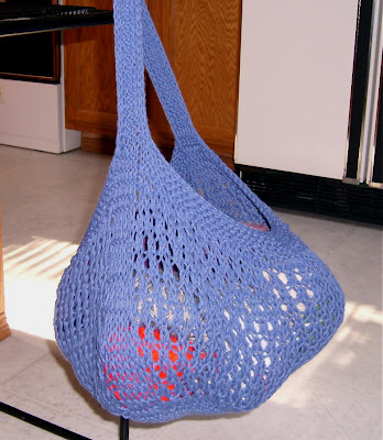Knitting Pattern Mesh Bag : Knit and Crochet Pattern Chat: Mesh Market Bag