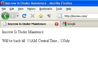 IMCREW or Im Crew Under Maintenance