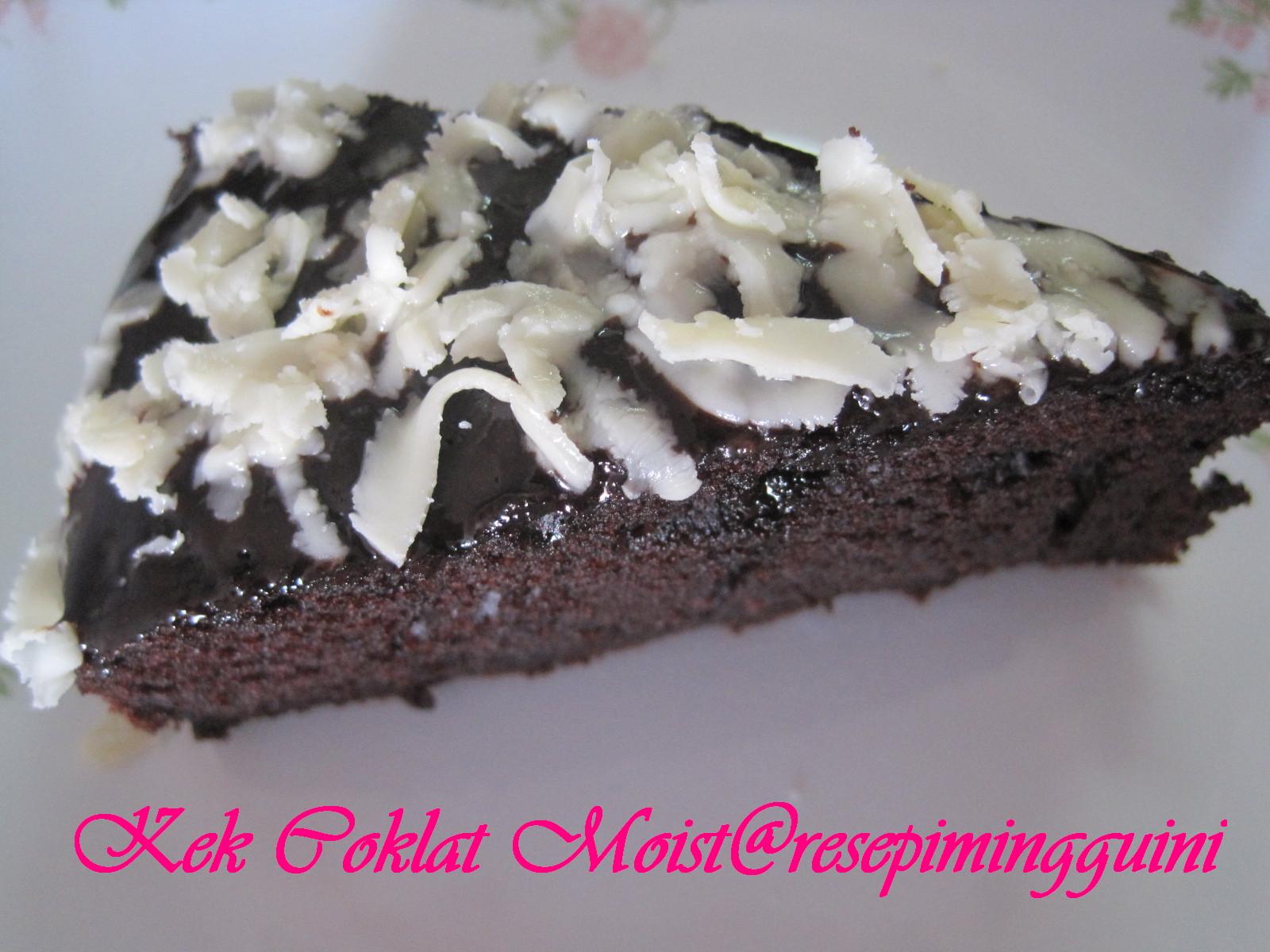 Kek Coklat Moist   Resepi Minggu Ini